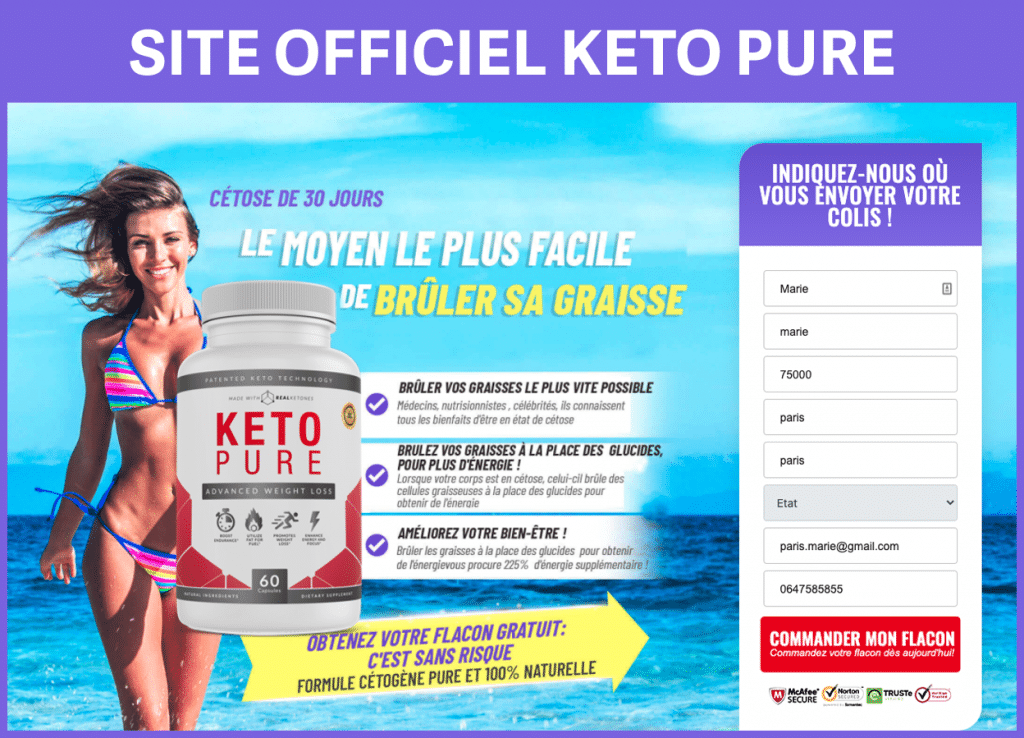 Site officiel de Keto Pure